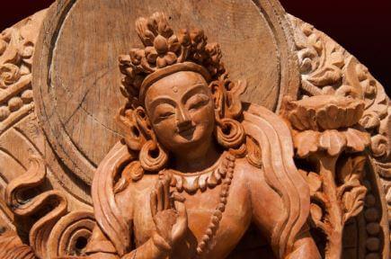 Escultura en madera antigua china