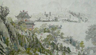 Paisaje pintura china