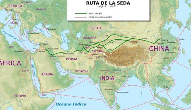 Ruta de la Seda Mapa